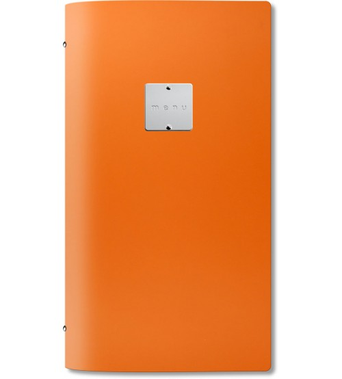 Menuholder FASHION orange | 4RE 6 env. | label