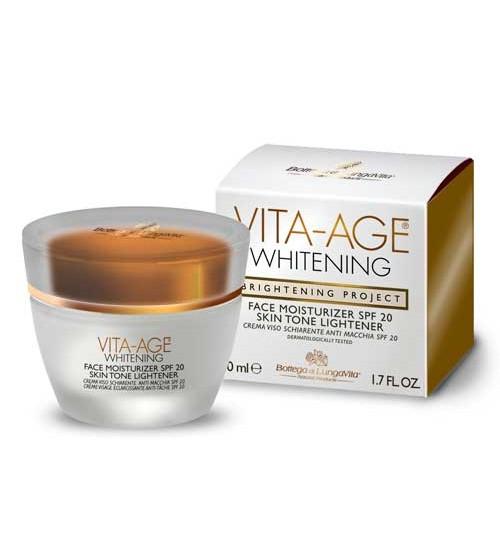 VITA-AGE WHITENING Face Moisturizer SPF20 Skin Tone Lightener - Container 50 ml jar