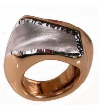 Big ring in silver gilt and diamond