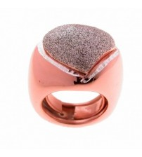 925 silver rose ring with glitter enamel over