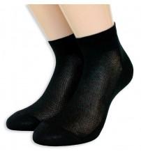 意大利莱尔丝光棉踝长男女同款袜子    (12双)
