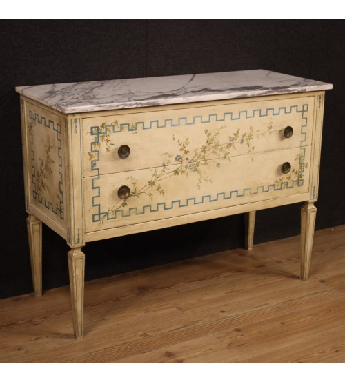 Italian Louis XVI style dresser in lacquered and painted wood
