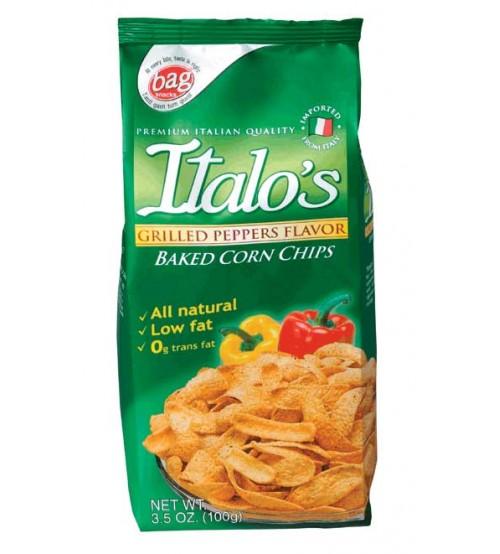 Italo's玉米片烤辣椒味100克