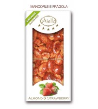 CRUNCHY BAR WHITE ALMOND WITH STRAWBERRY ORGANIC