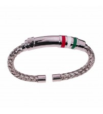 Man bracelet with italian flag colors
