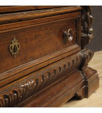Antique Italian chest of drawers in pear wood from 18th century