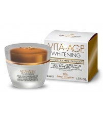 VITA-AGE WHITENING Face Moisturizer SPF20 Skin Tone Lightener - Container 50 ml jar