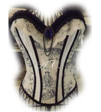 Victiorian Corset  Blue Memories 01