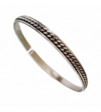 Little Slave bracelet in silver 925/1000 unisex model with central chain