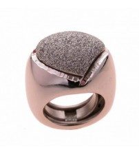 silver ring and enamel glitter over