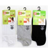 意大利莱尔棉缤纷色彩棱纹情侣同款袜子   (12双)
