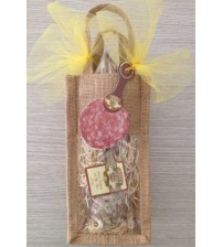 Salame Valligiano Family with Garlic 0,60 Kg. vacuum packed in a natural bag