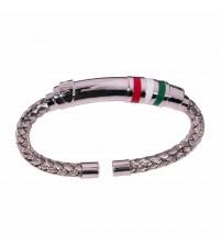 Man bracelet with italian flag colors